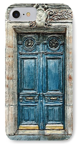 Parisian Door No. 3 IPhone Case by Joey Agbayani