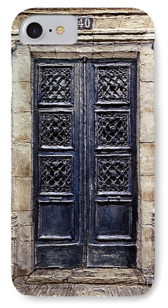 Parisian Door No.40 IPhone Case by Joey Agbayani