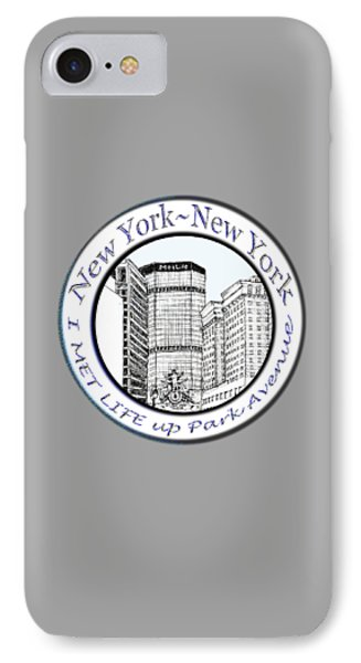 I Met Life Up Park Avenue Nyc IPhone Case