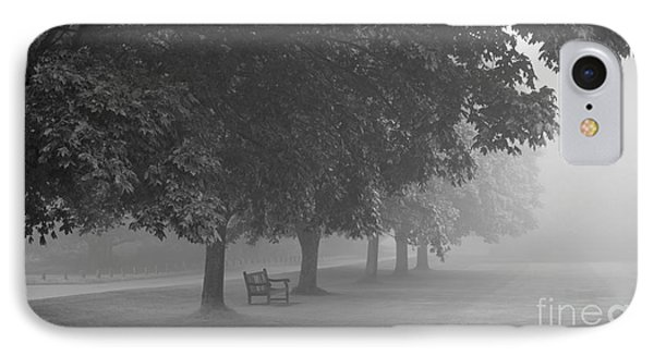 Park Bench In The Mist IPhone Case