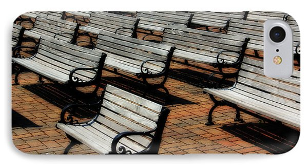 Park Benches Phone Case by Perry Webster