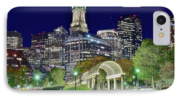 Park Entrance In Boston IPhone Case by Frozen in Time Fine Art Photography