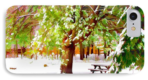 Park In Winter Phone Case by Lanjee Chee