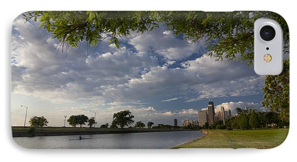 Park Scene With Rower And Skyline Phone Case by Sven Brogren