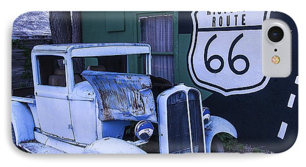 Parked Blue Truck IPhone Case by Garry Gay