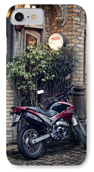 IPhone Case featuring the photograph Parked Motorcycle by Kim Wilson