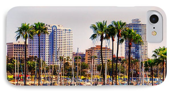 Parking And Palms In Long Beach Phone Case by Bob Winberry