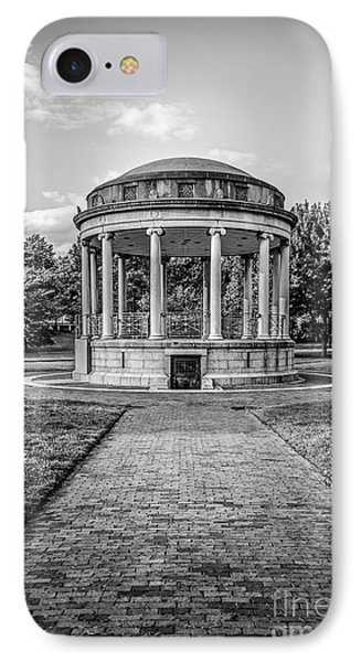 Parkman Bandstand Boston Common Black And White Photo IPhone Case by Paul Velgos