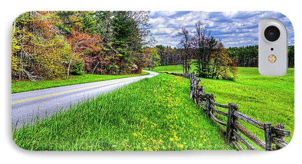 Parkway Spring IPhone Case by Dale R Carlson