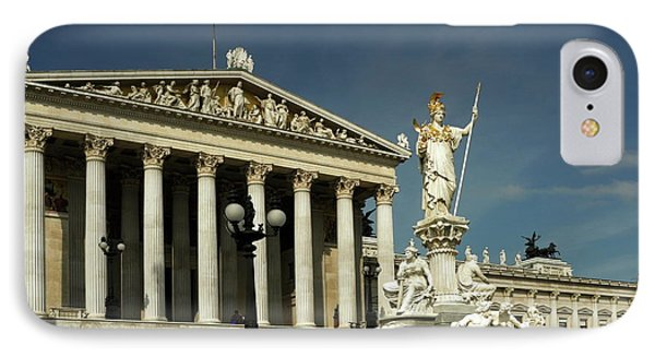 Parliament In Vienna Austria IPhone Case by Sally Weigand