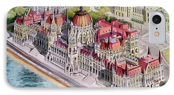 Parliment Of Hungary Phone Case by Charles Hetenyi
