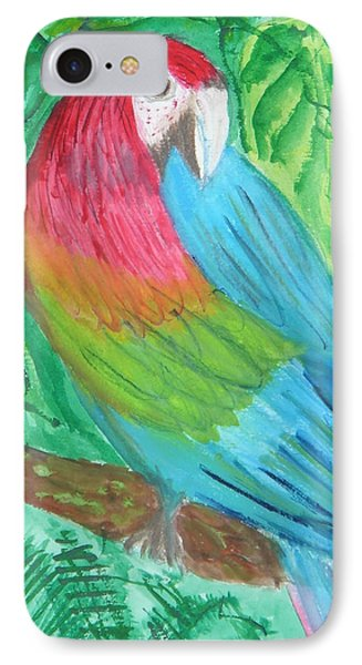 IPhone Case featuring the painting Parrot At Sundy House by Donna Walsh