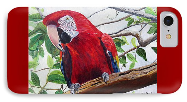 Parrot Portrait IPhone Case