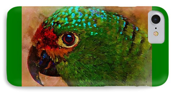 Parrote IPhone Case by John Kolenberg