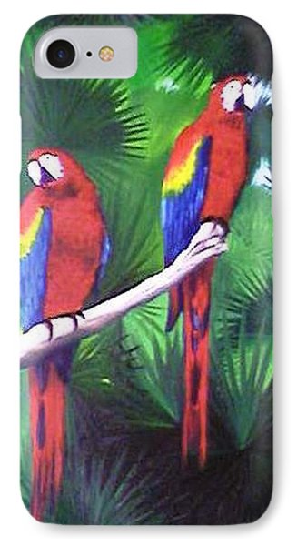 Parrots Molly And Polly IPhone Case