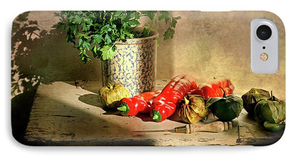 IPhone Case featuring the photograph Parsley And Peppers by Diana Angstadt