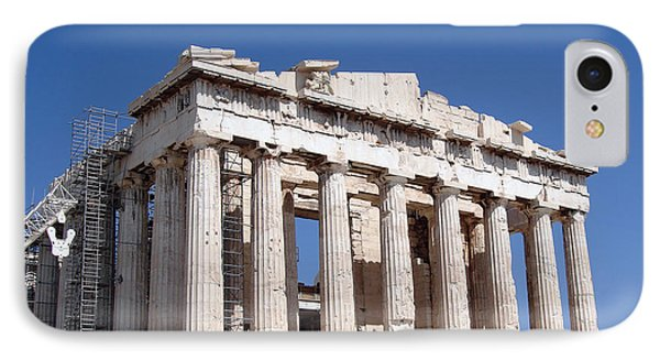 Parthenon Front Facade Phone Case by Jane Rix