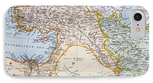 Partial Map Of Middle East In 1890s IPhone Case