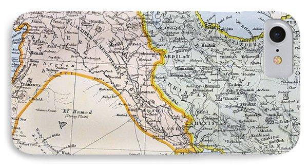 Partial Map Of Turkey Kurdistan Iraq IPhone Case