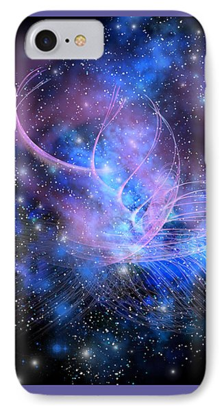 Particle Fountain Phone Case by Corey Ford