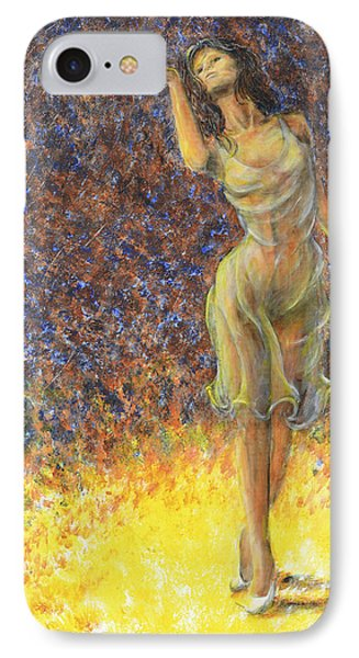 IPhone Case featuring the painting Parting Dancer by Nik Helbig