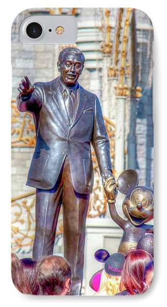 IPhone Case featuring the photograph Partners Statue by Mark Andrew Thomas
