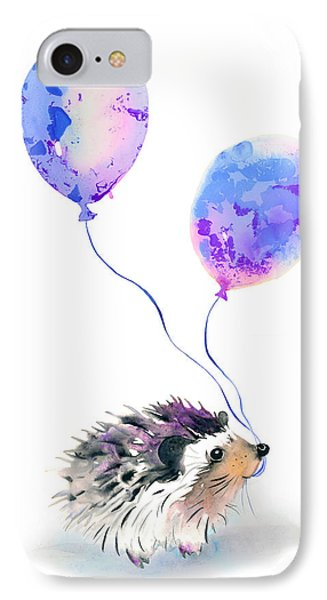 Party Hedgehog IPhone Case by Krista Bros