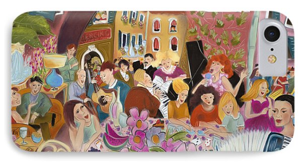 Party In The Courtyard Phone Case by Tatjana Krizmanic
