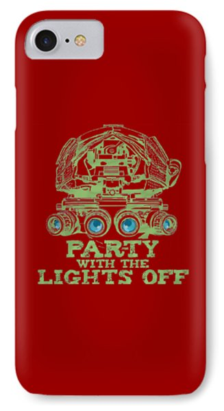 IPhone Case featuring the mixed media Party With The Lights Off by TortureLord Art