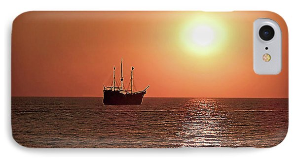 IPhone Case featuring the photograph Passing By In Calm Waters by Joan  Minchak