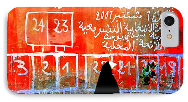 Passing By Marrakech Red Wall  Phone Case by Funkpix Photo Hunter