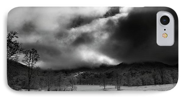 Passing Snow In North Carolina In Black And White IPhone Case by Greg Mimbs