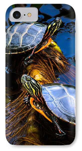Passing The Day With A Friend IPhone Case by Bob Orsillo