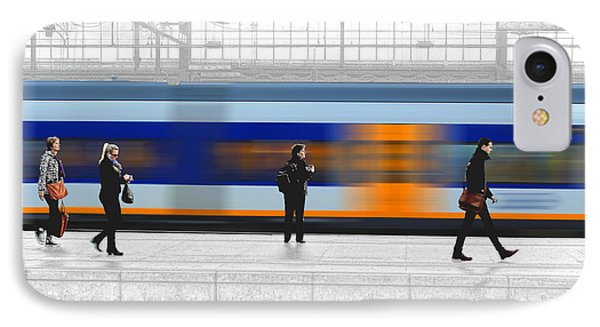 Passing Train IPhone Case by Pedro L Gili