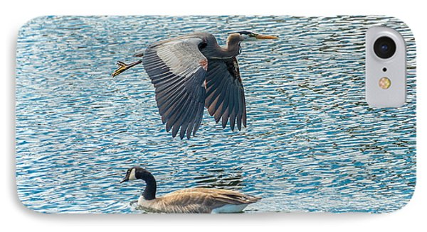 Passing Waterfowl IPhone Case by Jerry Cahill