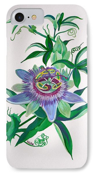 Passion Flower IPhone Case by Tracey Harrington-Simpson