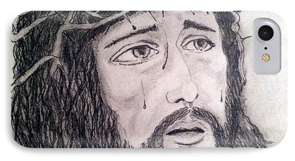 IPhone Case featuring the painting Passion Of Christ by Brindha Naveen