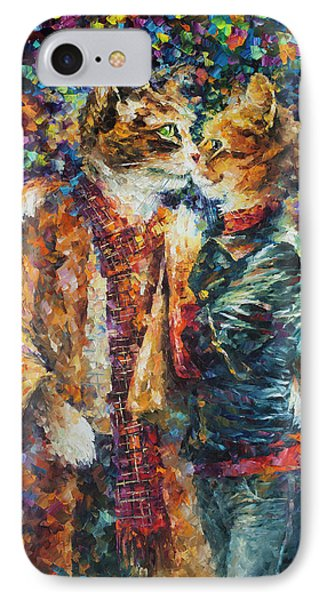 Passion Of The Cats  Phone Case by leonid Afremov