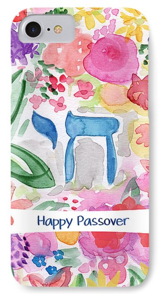 IPhone Case featuring the mixed media Passover Chai- Art By Linda Woods by Linda Woods
