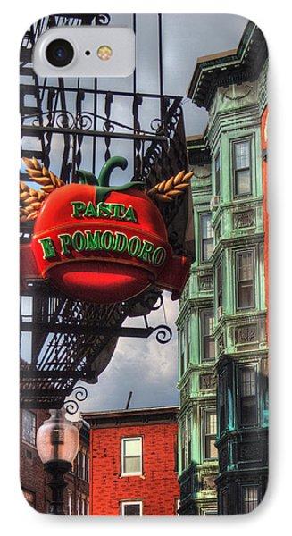 Pasta E Pomodoro - Boston North End IPhone Case by Joann Vitali