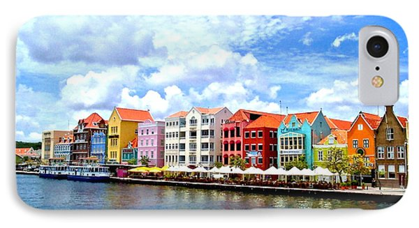 Pastel Building Coastline Of Caribbean IPhone Case