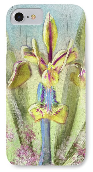 Pastel Iris IPhone Case by Lois Bryan