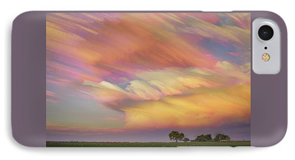 IPhone Case featuring the photograph Pastel Painted Big Country Sky by James BO Insogna