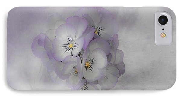 Pastel Pansies Still Life IPhone Case by Sandra Foster