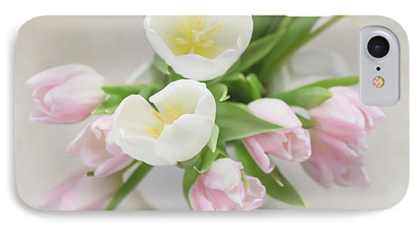 IPhone Case featuring the photograph Pastel Tulips by Kim Hojnacki