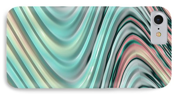 IPhone Case featuring the digital art Pastel Zigzag by Bonnie Bruno