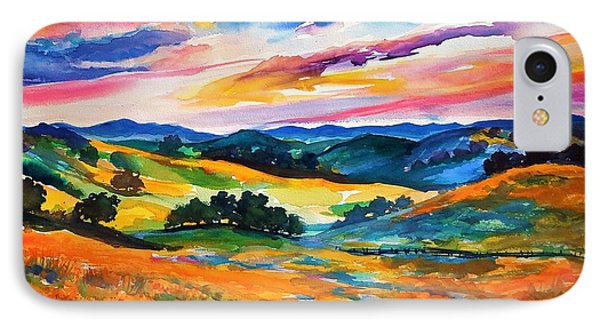Pastoral Poppies On Yokohl Valley IPhone Case by Therese Fowler-Bailey