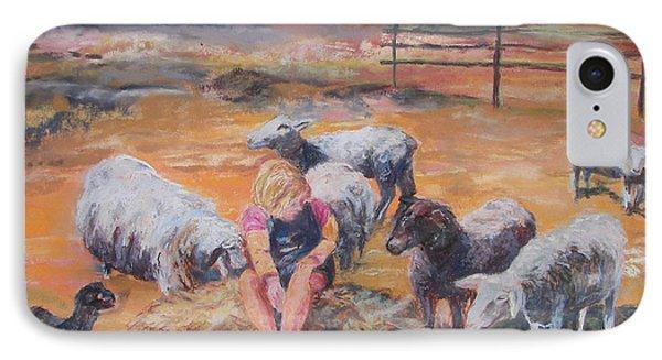 Pasture Acquaintances Phone Case by Alicia Drakiotes