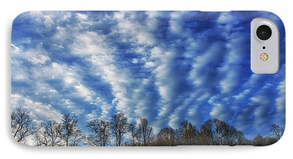 Pasture Field And Winter Sky IPhone Case