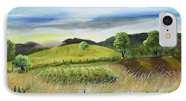 IPhone Case featuring the painting Pasture Love At Chateau Meichtry - Ellijay Ga by Jan Dappen